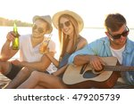 group of friends listening to... | Shutterstock . vector #479205739