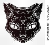 black cat head portrait. ideal...   Shutterstock .eps vector #479220334