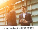 business people working outside ... | Shutterstock . vector #479222125
