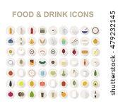 Food   Drink Icon Set. Vector...