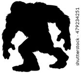 Stock vector bigfoot mascot silhouette 479234251