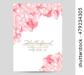 vintage delicate invitation... | Shutterstock . vector #479234305