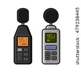 sound level meter set on white... | Shutterstock .eps vector #479238445