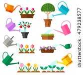 watering can collection. vector | Shutterstock .eps vector #479238577