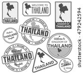 stamp with map of thailand.... | Shutterstock .eps vector #479242594