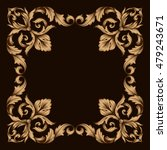 vintage baroque ornament... | Shutterstock .eps vector #479243671