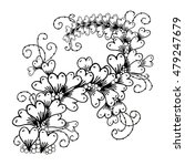 vector hand drawn ornate floral ... | Shutterstock .eps vector #479247679