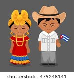 cubans in national dress with a ... | Shutterstock .eps vector #479248141