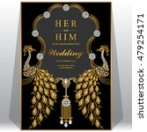 wedding card  invitation card ... | Shutterstock .eps vector #479254171