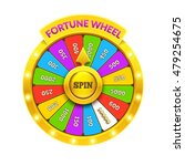 gold fortune wheel illustration.... | Shutterstock .eps vector #479254675