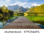 panorama of mountain lake in... | Shutterstock . vector #479256691
