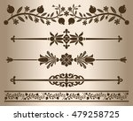 decorative elements   floral.... | Shutterstock .eps vector #479258725