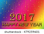 2017 happy new years on a... | Shutterstock . vector #479259601