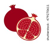flat icon whole pomegranate and ... | Shutterstock .eps vector #479270611