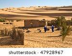 touareg in the desert of libya   Shutterstock . vector #47928967