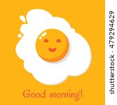 good morning. egg breakfast.... | Shutterstock .eps vector #479294629