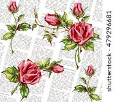 seamless floral background.... | Shutterstock .eps vector #479296681