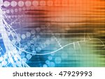 digital media with a modern... | Shutterstock . vector #47929993