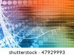digital media with a modern... | Shutterstock . vector #47929993