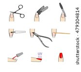 nails manicure or hands with... | Shutterstock .eps vector #479304814