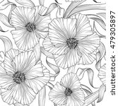 floral seamless etching pattern.... | Shutterstock .eps vector #479305897
