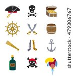 Set Of Flat Vector Piratical...