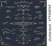 calligraphic design elements .... | Shutterstock .eps vector #479308969