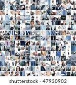 business collage made of 225... | Shutterstock . vector #47930902