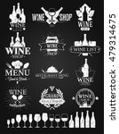 wine labels and logos chalk... | Shutterstock .eps vector #479314675