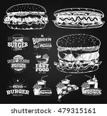 fast food label  logos and... | Shutterstock .eps vector #479315161