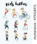 vector cartoon cute set... | Shutterstock .eps vector #479318371