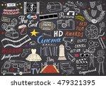 cinema and film industry set.... | Shutterstock .eps vector #479321395