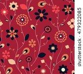 abstract flower seamless...   Shutterstock .eps vector #479322085