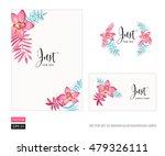 vector set of invitation cards... | Shutterstock .eps vector #479326111