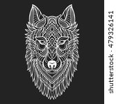 abstract wolf hand draw | Shutterstock .eps vector #479326141