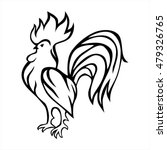 rooster stylized design. vector ... | Shutterstock .eps vector #479326765