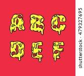 vector pizza letters. set 1 of 4 | Shutterstock .eps vector #479327695