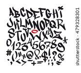 written graffiti font alphabet. ... | Shutterstock .eps vector #479328301