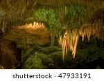 Stalactites In Carlsbad Cavern...
