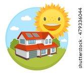 vector clipart solar energy... | Shutterstock .eps vector #479336044