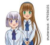 manga cartoon girl design | Shutterstock .eps vector #479336101