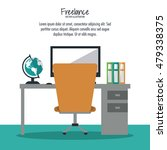 space of work and freelance... | Shutterstock .eps vector #479338375