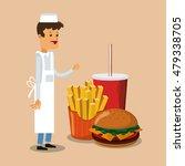 hamburger and fast food design | Shutterstock .eps vector #479338705