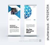 vector set of modern roll up... | Shutterstock .eps vector #479339254