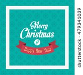 snowflake merry christmas image | Shutterstock .eps vector #479341039