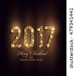 happy new year 2017 card  | Shutterstock .eps vector #479341441