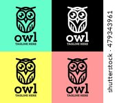 simple modern owl logo template | Shutterstock .eps vector #479343961