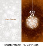 christmas background. silver... | Shutterstock .eps vector #479344885