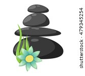 growing piled up pebbles on...   Shutterstock .eps vector #479345254