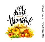 illustration of a thanksgiving... | Shutterstock .eps vector #479349631